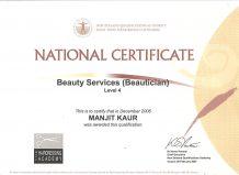 Certificate -1-Manjit Beauty Salon (1)